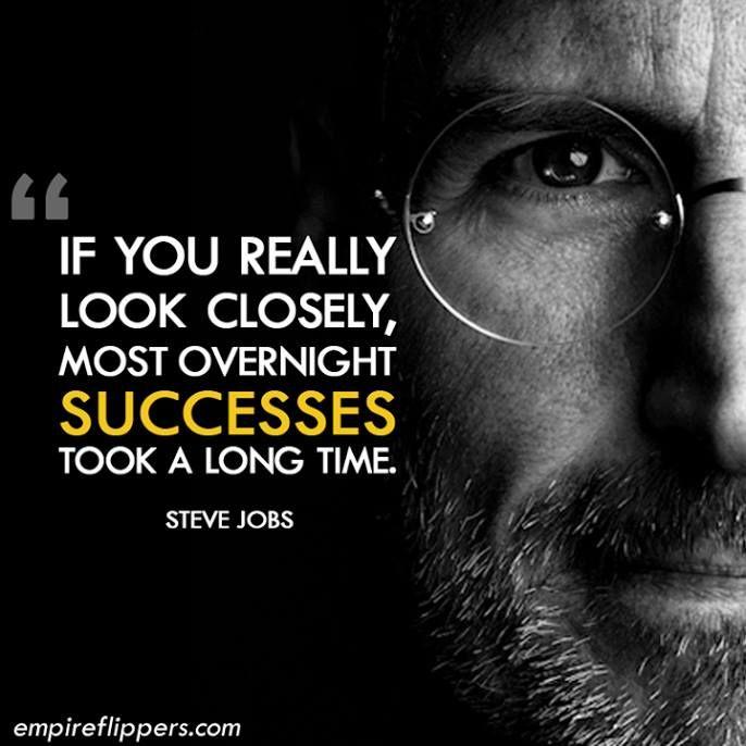Ha jól megnézzük, minden sikersztori mögött egy nagyon hosszú út áll. - Steve Jobs